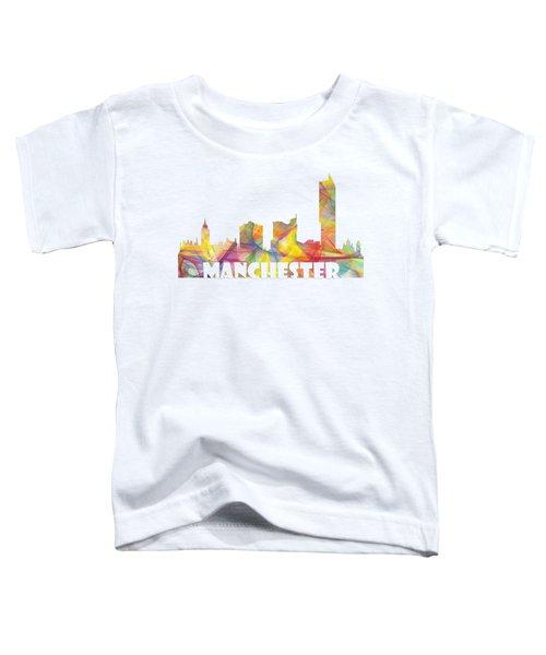 Manchester England Skyline Toddler T-Shirt