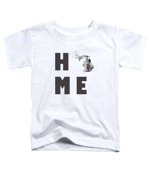 Michigan State Map Toddler T-Shirt