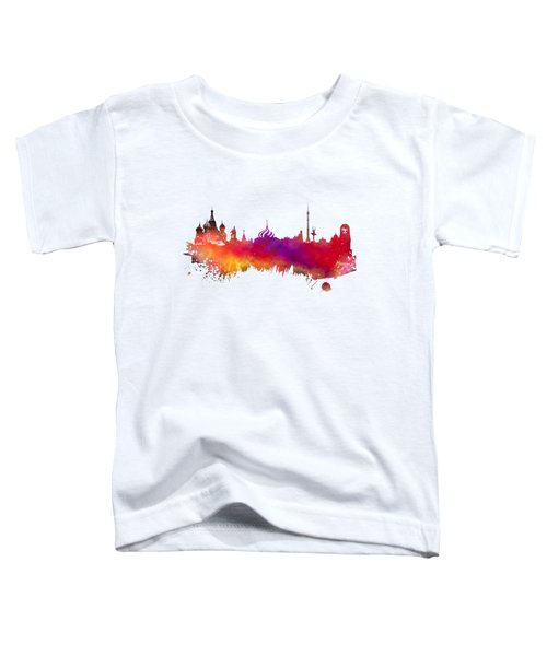 Moscow Skyline Toddler T-Shirt by Justyna JBJart