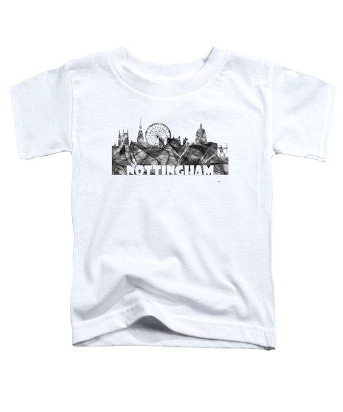 Nottingham England Skyline Toddler T-Shirt