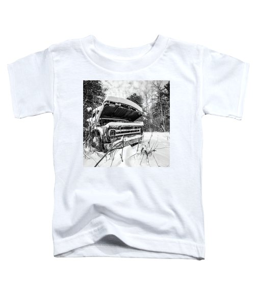 Old Abandoned Pickup Truck In The Snow Toddler T-Shirt