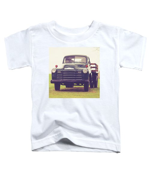 Old Chevy Farm Truck In Vermont Square Toddler T-Shirt