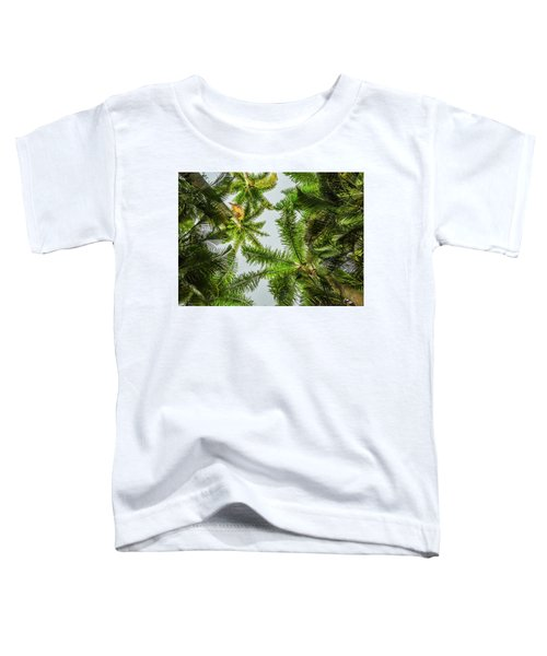 Palm Trees And Blue Sky Toddler T-Shirt