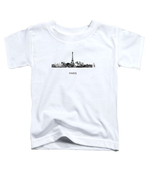 Paris France Skyline Toddler T-Shirt by Marlene Watson