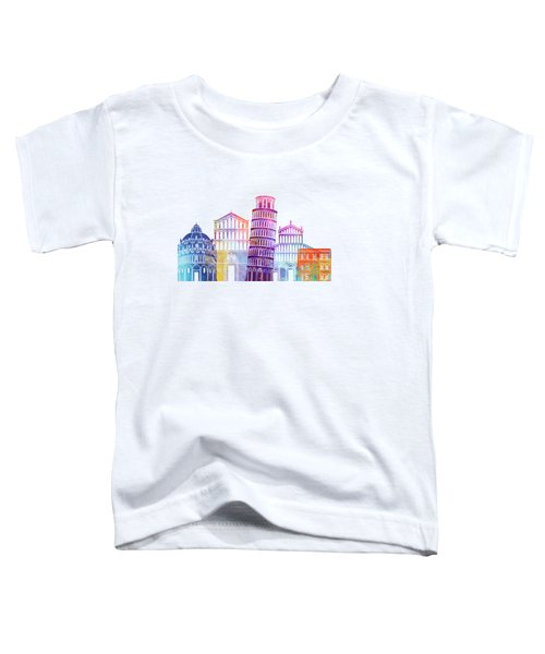 Paris Landmarks Watercolor Poster Toddler T-Shirt