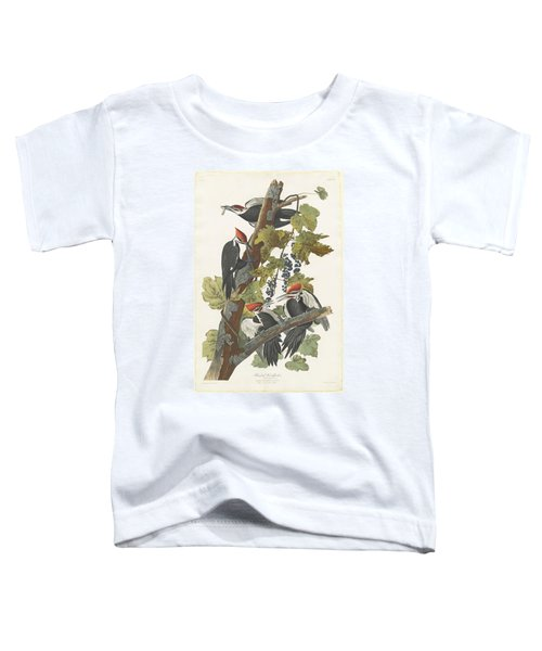 Pileated Woodpecker Toddler T-Shirt by John James Audubon