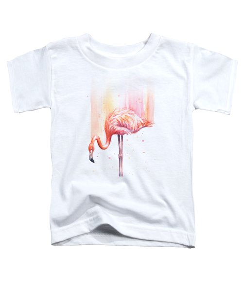 Pink Flamingo - Facing Right Toddler T-Shirt