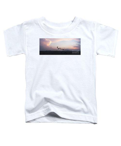Pivot Irrigation And Sunset Toddler T-Shirt