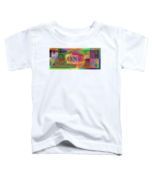 Pop-art Colorized One U. S. Dollar Bill Reverse Toddler T-Shirt