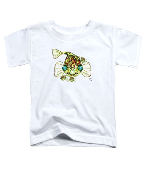 Puffer Fish Toddler T-Shirt by W Gilroy