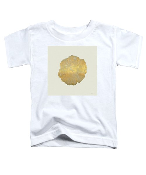 Rings Of A Tree Trunk Cross-section In Gold On Linen  Toddler T-Shirt