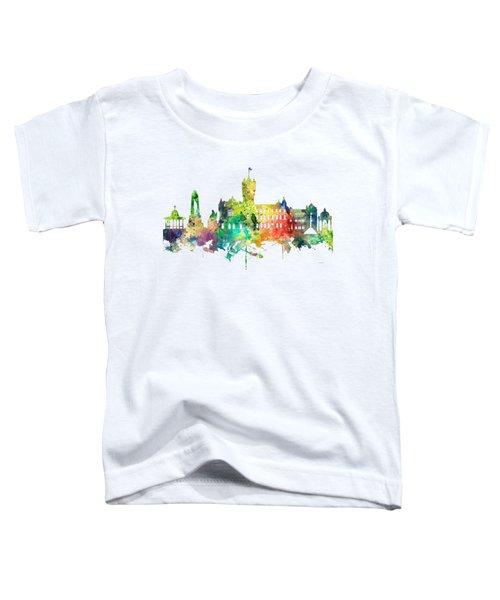 Rutherglen Scotland Skyline Toddler T-Shirt by Marlene Watson