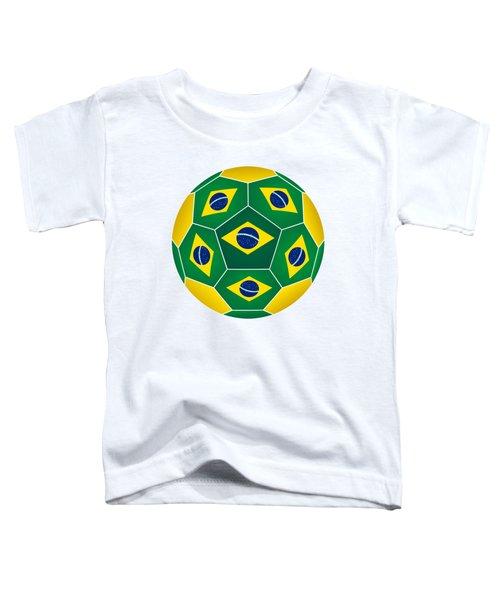Soccer Ball With Brazilian Flag Toddler T-Shirt