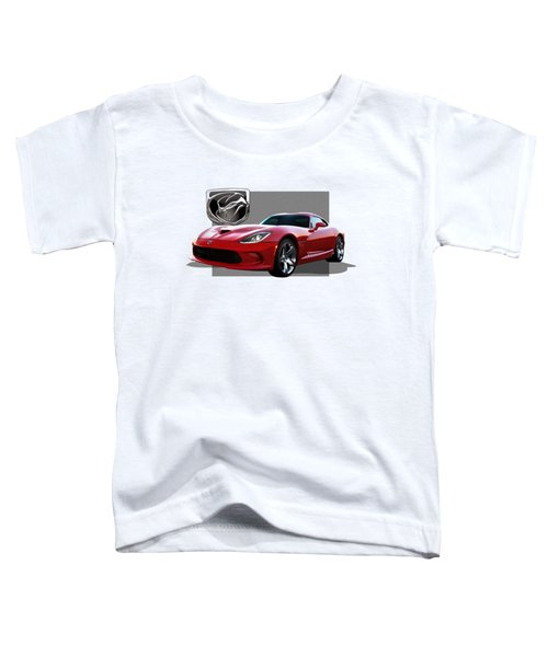 S R T  Viper With  3 D  Badge  Toddler T-Shirt