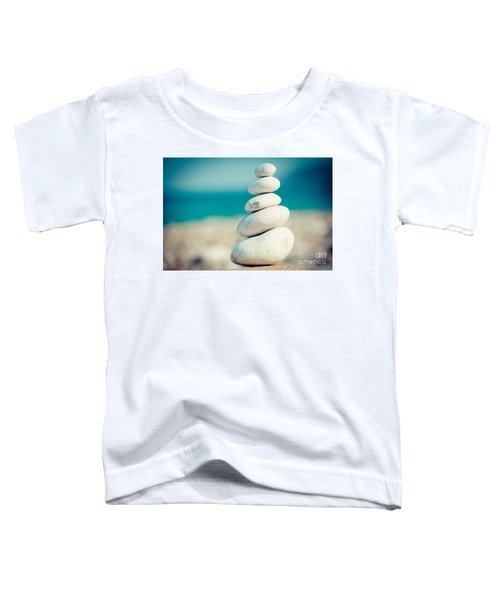 Stupa At Sea Coast Seascape Buddha Toddler T-Shirt