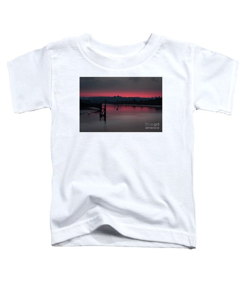 Sunset On The River Toddler T-Shirt