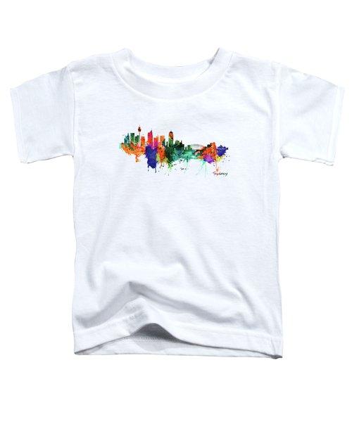 Sydney Watercolor Skyline  Toddler T-Shirt