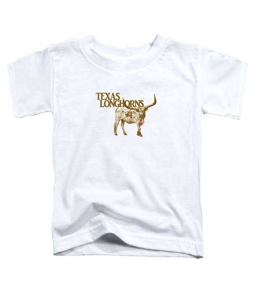 Texas Longhorns Toddler T-Shirt by Priscilla Burgers