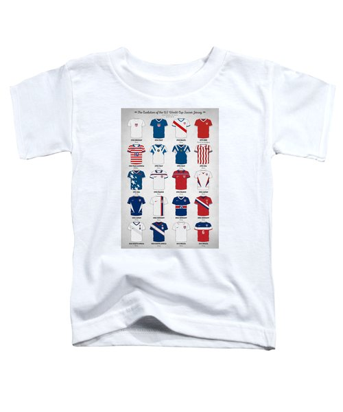The Evolution Of The Us World Cup Soccer Jersey Toddler T-Shirt by Taylan Apukovska