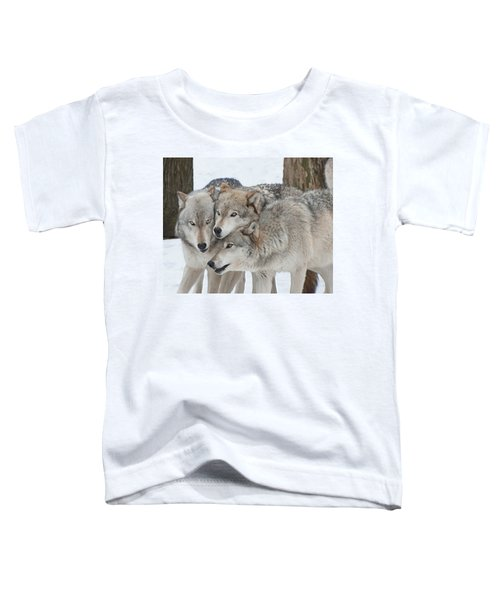 Three Wolves Are A Crowd Toddler T-Shirt