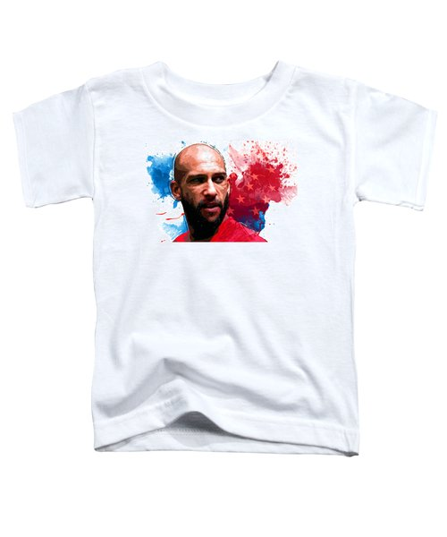 Tim Howard Toddler T-Shirt by Semih Yurdabak