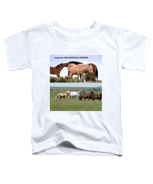 Twin Photos Awesome North American Mustangs Horses Cowboys Photography See On Posters Pillows Curtai Toddler T-Shirt