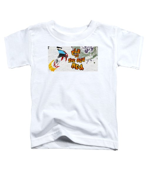 Urban Graffiti - Old Is The New New Toddler T-Shirt