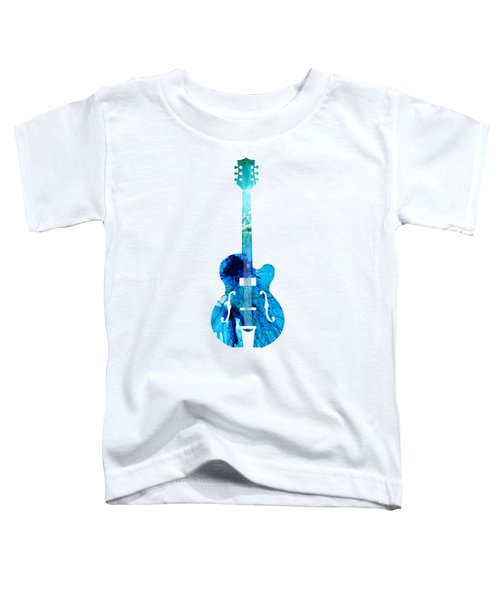 Vintage Guitar 2 - Colorful Abstract Musical Instrument Toddler T-Shirt