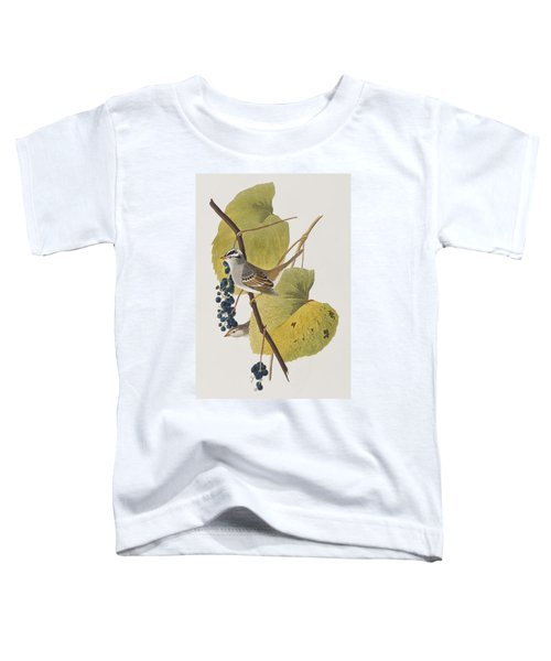White-crowned Sparrow Toddler T-Shirt by John James Audubon