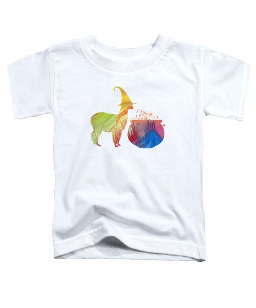 Witch Llama Toddler T-Shirt