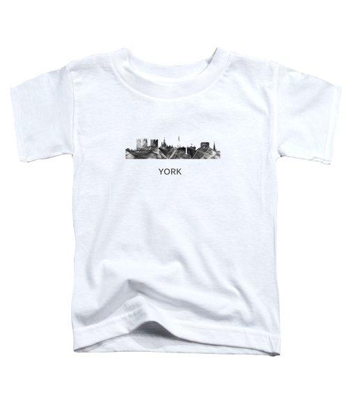York Skyline England Toddler T-Shirt