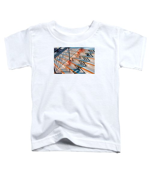 Zig Zag Shadows On Train Station Steps Toddler T-Shirt