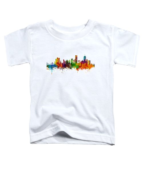 Boston Massachusetts Skyline Toddler T-Shirt