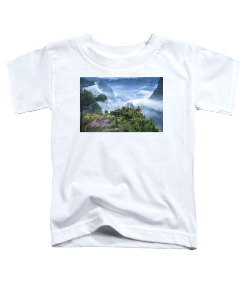 Mountains Scenery In The Mist Toddler T-Shirt