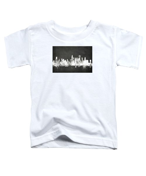 Chicago Illinois Skyline Toddler T-Shirt by Michael Tompsett