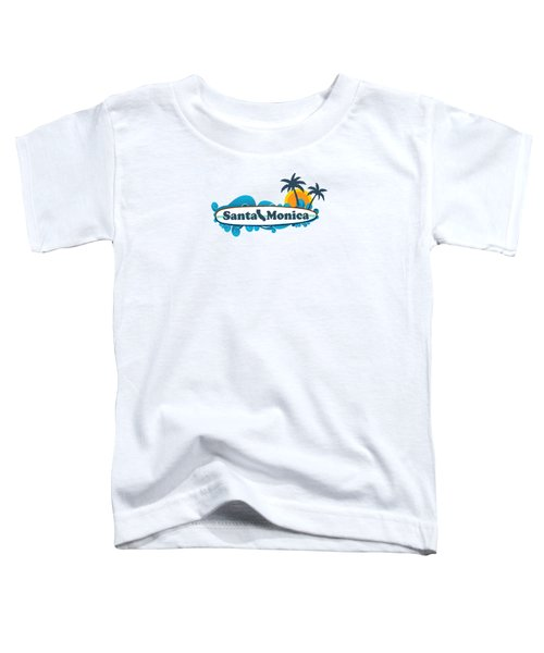 Santa Monica Toddler T-Shirt by American Roadside