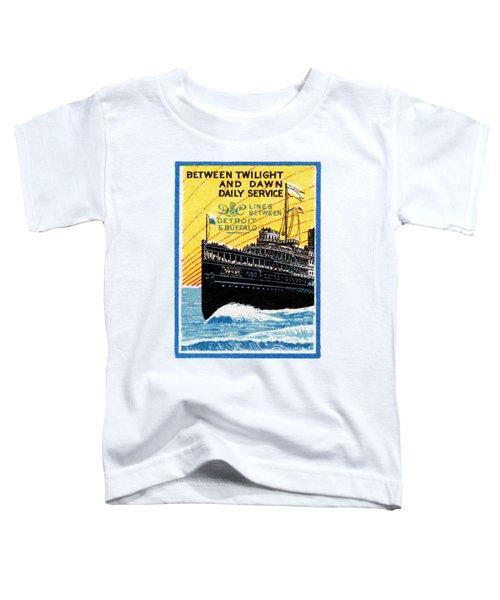 1910 Detroit To Buffalo Steamship Toddler T-Shirt
