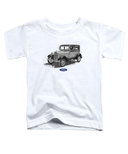 Model A Ford 2 Door Sedan Toddler T-Shirt