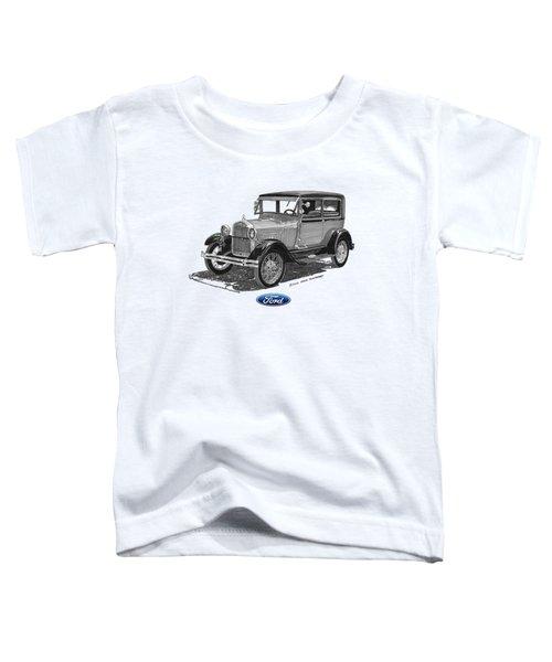 Model A Ford 2 Door Sedan Toddler T-Shirt