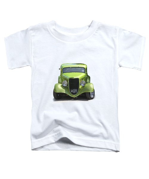 1934 Ford Street Hot Rod On A Transparent Background Toddler T-Shirt by Terri Waters
