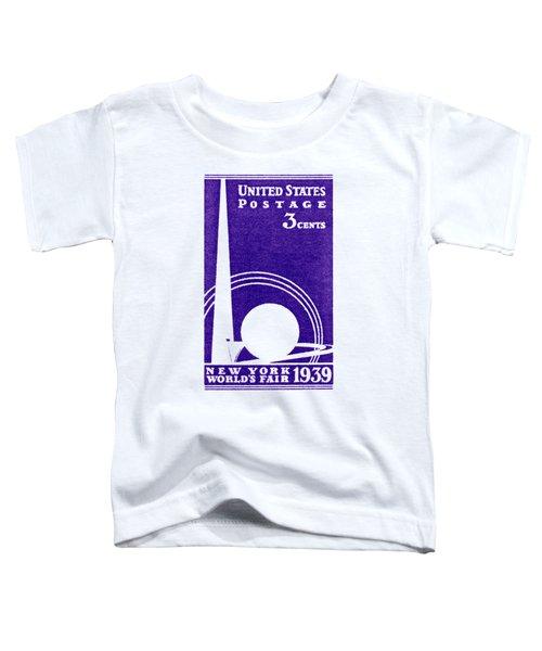 1939 New York Worlds Fair Stamp Toddler T-Shirt