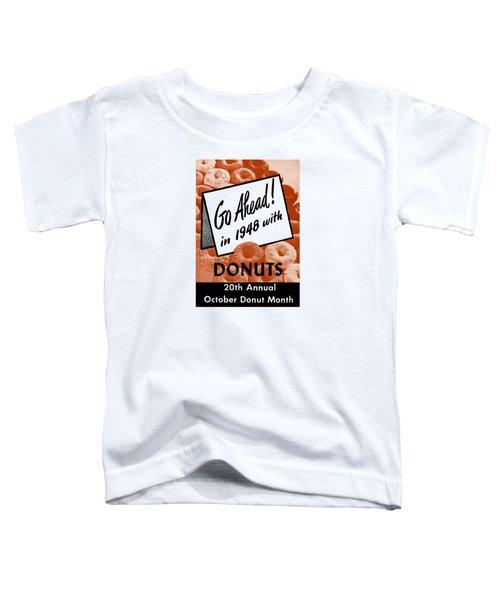 1948 Donut Poster Toddler T-Shirt