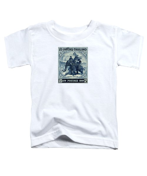 1955 Thailand War Elephant Stamp Toddler T-Shirt by Historic Image