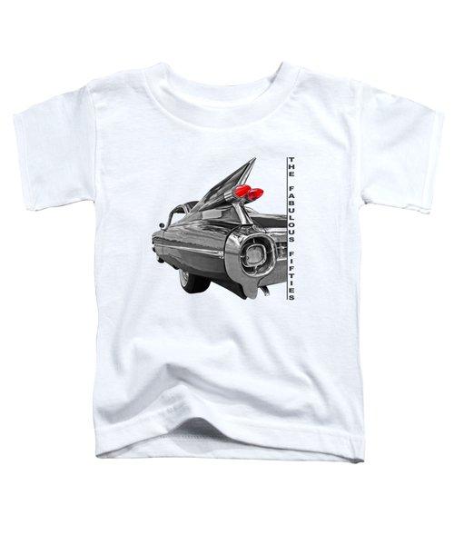 1959 Cadillac Tail Fins Toddler T-Shirt by Gill Billington