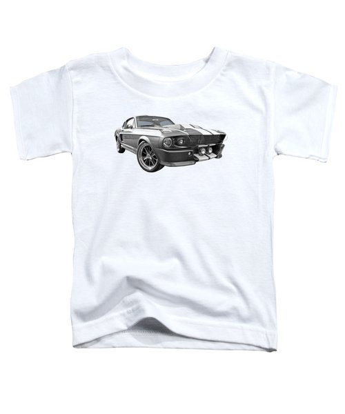 1967 Eleanor Mustang In Black And White Toddler T-Shirt