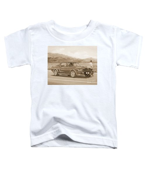 1967 Ford Mustang Fastback In Sepia Toddler T-Shirt