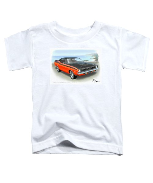 1970 Barracuda Aar  Cuda Classic Muscle Car Toddler T-Shirt by John Samsen