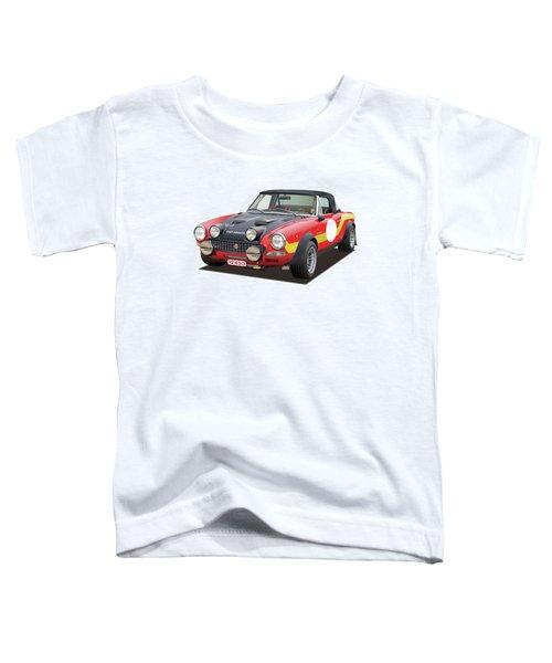 1972 Fiat Abarth 124 Rally Illustration Toddler T-Shirt