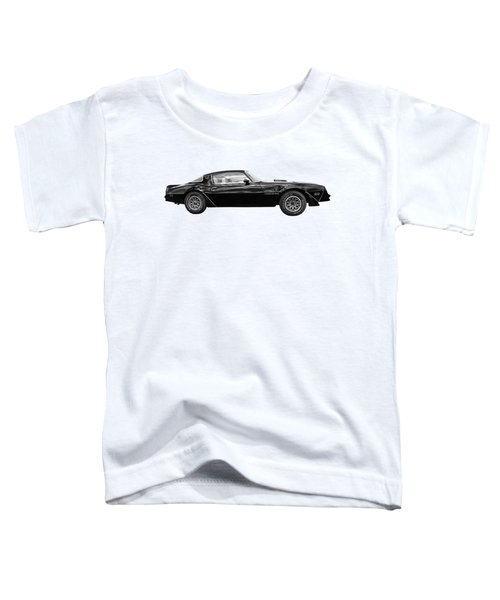 1978 Trans Am In Black And White Toddler T-Shirt