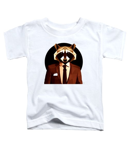 Abstract Geometric Raccoon Toddler T-Shirt by Gallini Design
